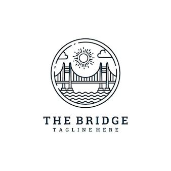 O logotipo da linha de ponte