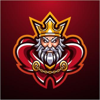 O logotipo da mascote cabeça rei real