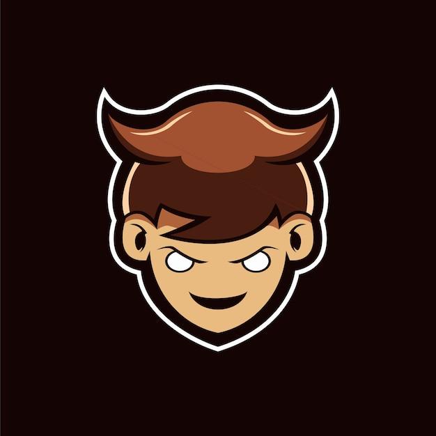 O logotipo da mascote do menino