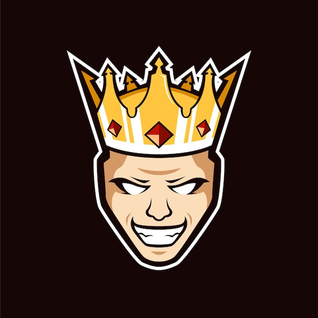 O logotipo da mascote do rei