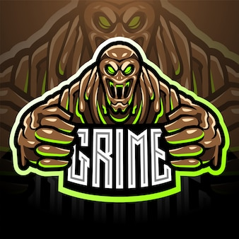 O logotipo da mascote esport grime