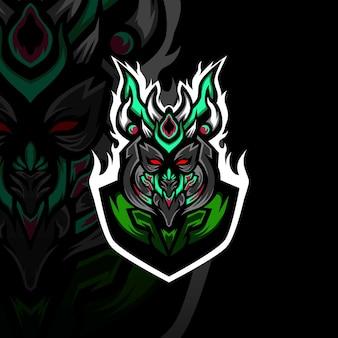 O logotipo da mascote esport guarda forte