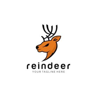 O logotipo da rena pronto para uso
