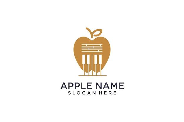O logotipo do conceito da apple se mistura com a música