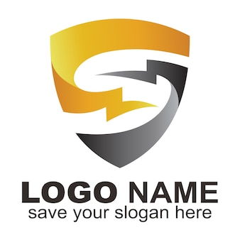 O logotipo do escudo combinado