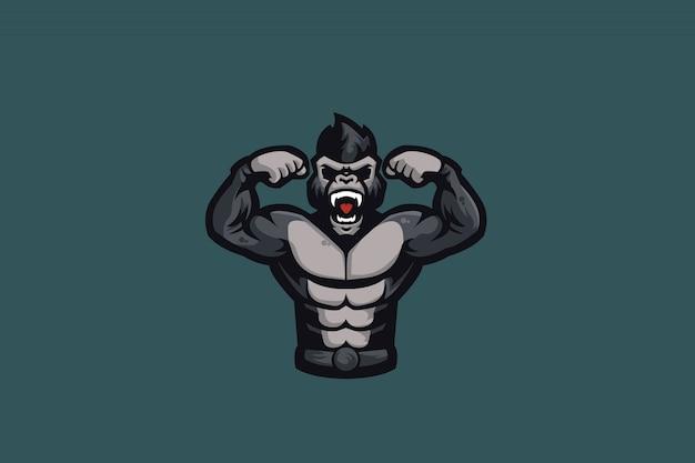 O logotipo do gorilla e sports