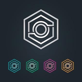 O logotipo do hexagone