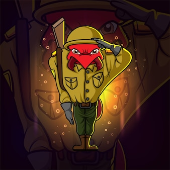 O logotipo do soldado formiga esport.