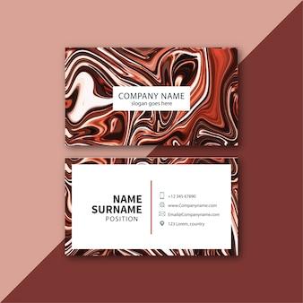 O mármore liquify o cartão de visita da textura