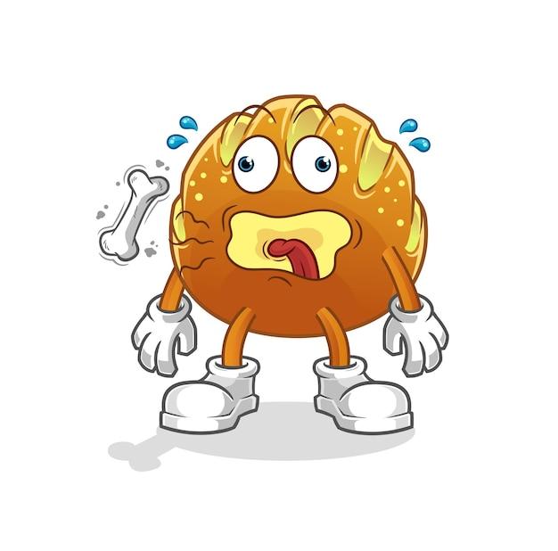O mascote do arroto de pão. desenho animado