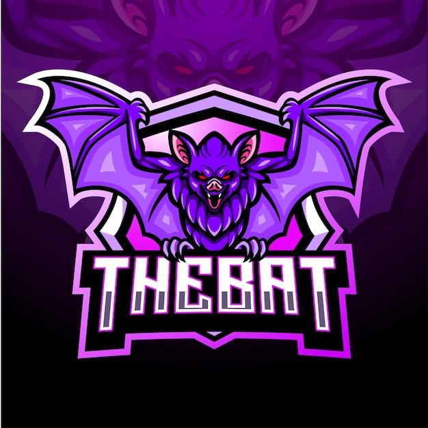O mascote do morcego. design do logotipo esport