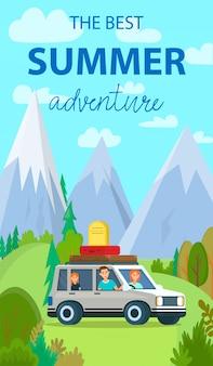 O melhor banner de férias verticais de aventura de verão