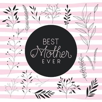 O melhor cartão postal feito à mão da mãe