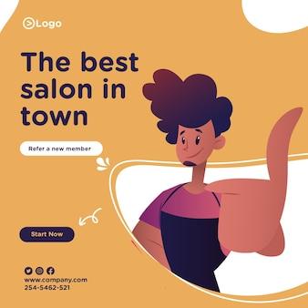 O melhor design de banner da cidade para as redes sociais