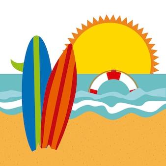 O melhor design de verão, gráfico de vetor ilustração eps10