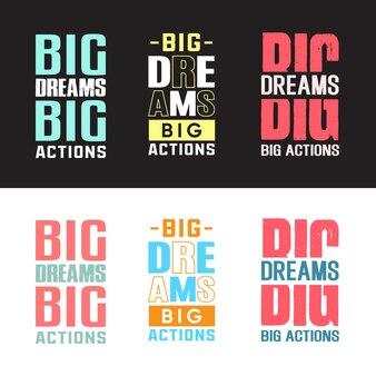 O melhor pacote de design de camisetas de tipografia motivacional