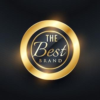 O melhor rótulo dourado da marca e projeto do vetor do emblema