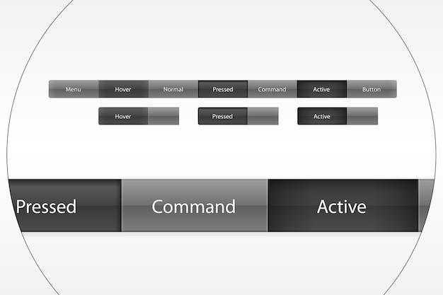 O menu principal do painel de controle do site