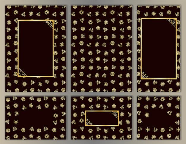 O modelo cravejado de diamantes para cartazes cobre cartões de felicitações