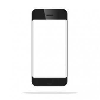 O modelo da frente do smartphone preto.