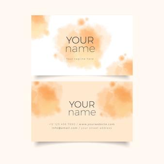 O modelo de cartão de sua empresa com cores pastel laranja