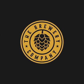 O modelo de design gráfico da empresa cervejaria