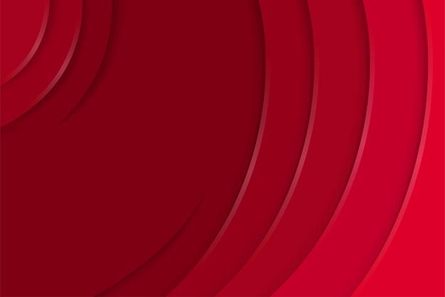 O modelo de fundo de corte de papel abstrato usa variações de cor vermelha. design de estilo de curva.