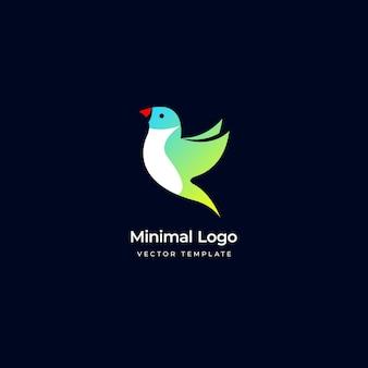 O modelo de logotipo do pássaro gouldian finch ilustração vetorial