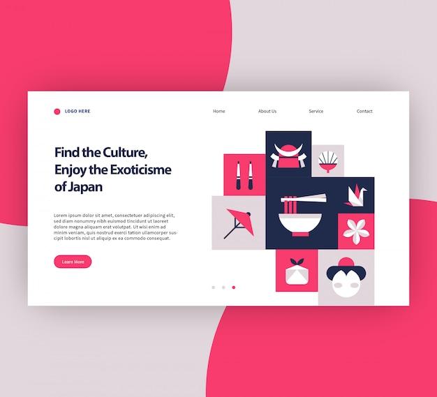 O modelo de site exoticism do japão