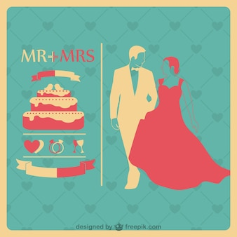 O modelo do convite de casamento