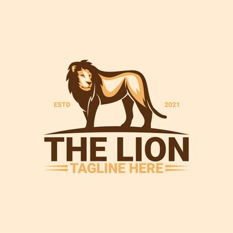O modelo do logotipo do leão