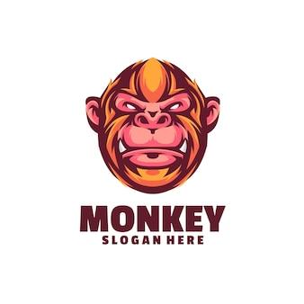 O modelo do logotipo do macaco é baseado em vetor