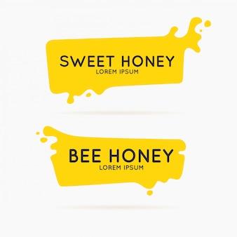 O modelo para os produtos do apiário. cartaz de vetor elegante para mel de abelha.