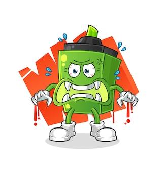 O monstro marcador. personagem de desenho animado