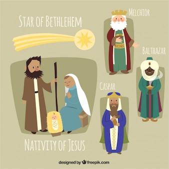 O nascimento de jesus ilustração