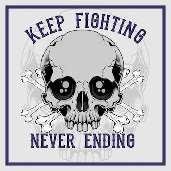 O osso transversal do crânio continua lutando nunca terminando