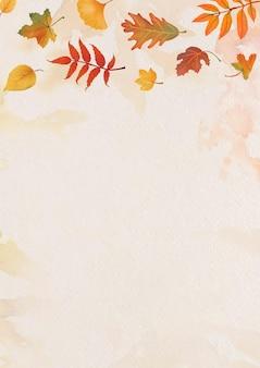 O outono deixa o vetor de fundo bege