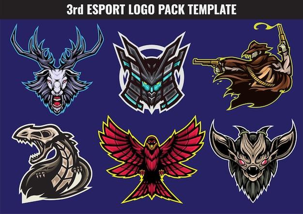 O pacote mascote e esporte é adequado para logotipo esport etc.