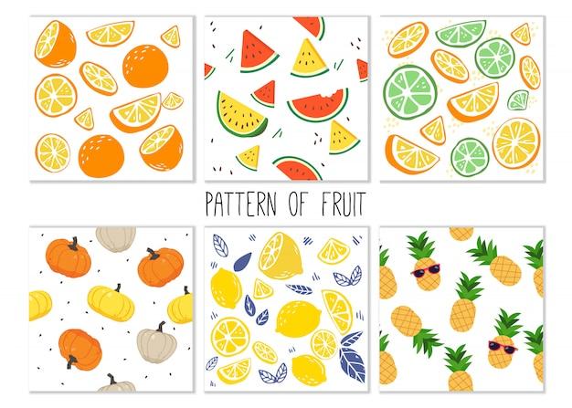 O padrão de conjunto de frutas.