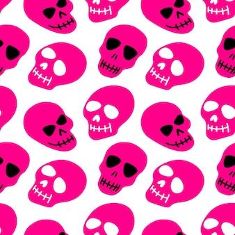 O padrão do padrão de caveiras rosa