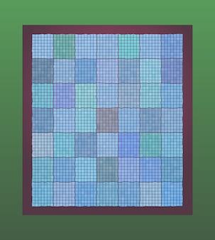 O padrão dos azulejos em tons de moldura do mar