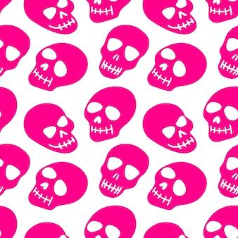 O padrão dos crânios de caveira rosa