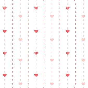 O padrão sem emenda do coração bonitinho.