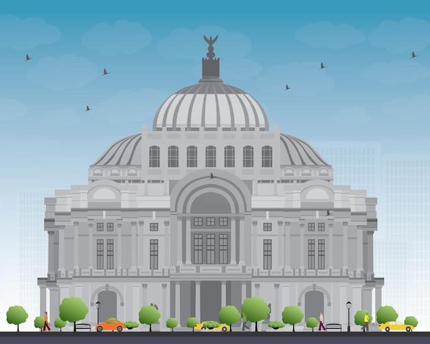 O palácio de belas artes / palacio de bellas artes na cidade do méxico, méxico.
