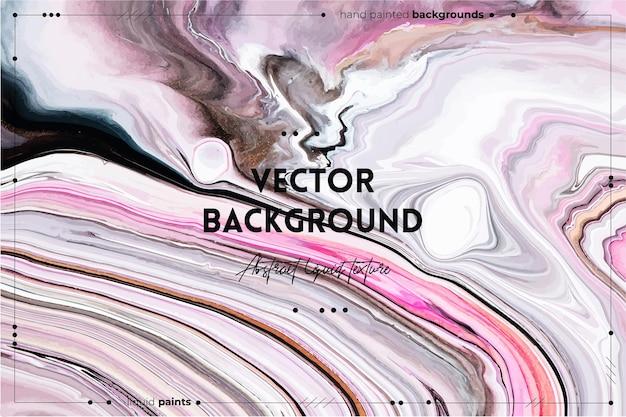O pano de fundo de textura de arte fluida com efeito de tinta de mistura abstrata imagem acrílica líquida com tintas mistas da moda pode ser usado para o plano de fundo do site rosa branco e cinza transbordando cores