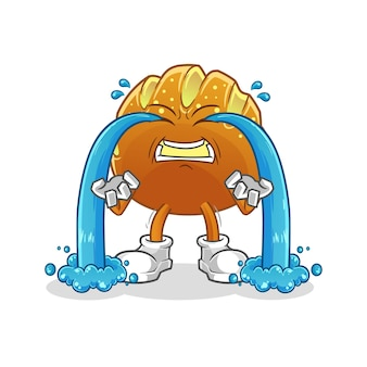 O pão chorando ilustração. personagem