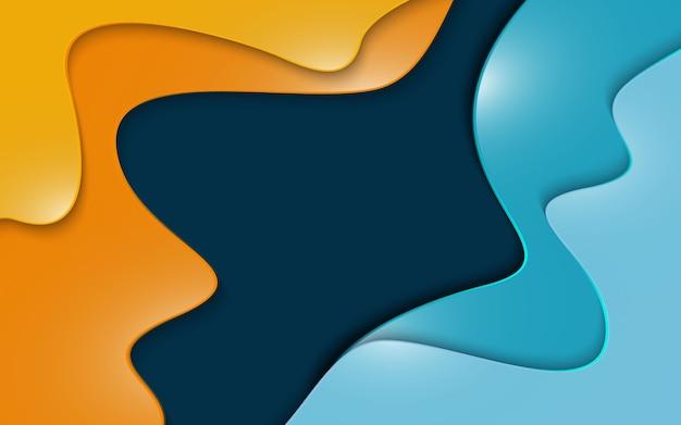 O papel cortado 3d da cor abstrata dá forma ao fundo.