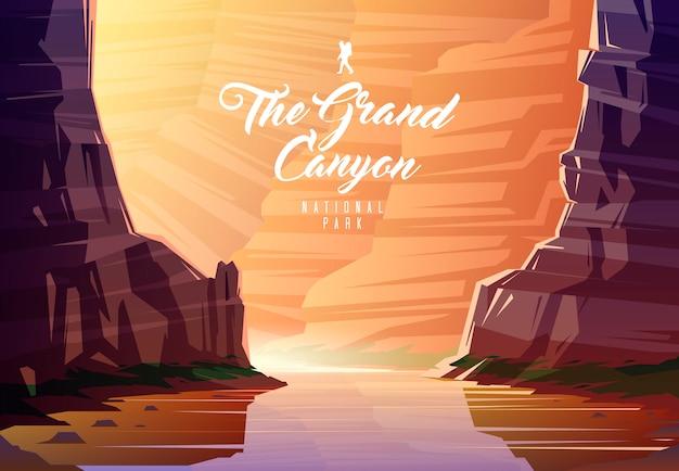 O parque nacional do grand canyon. natureza do arizona, eua. o rio colorado.