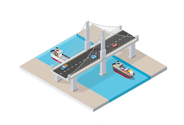 O passarela ponte de infra-estrutura urbana