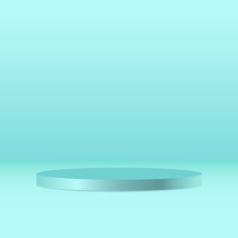 O pedestal redondo verde metálico em branco recebeu o pódio do vencedor por um produto de luxo excepcional